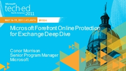 Microsoft Forefront Online Protection