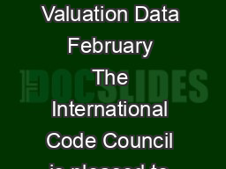 Building Valuation Data  February  The International Code Council is pleased to  PDF document - DocSlides