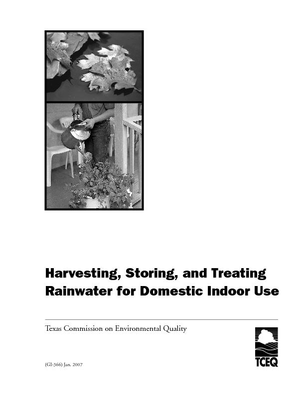 Harvesting, Storing, and Treating