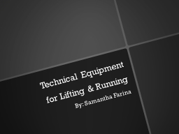 Technical Equipment PowerPoint PPT Presentation