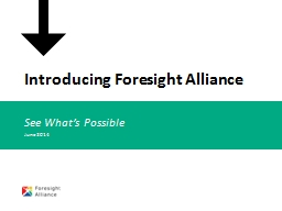 Introducing Foresight Alliance