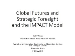 Global Futures and Strategic Foresight