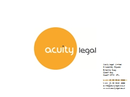 Acuity Legal Limited