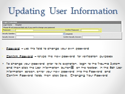 Updating User Information