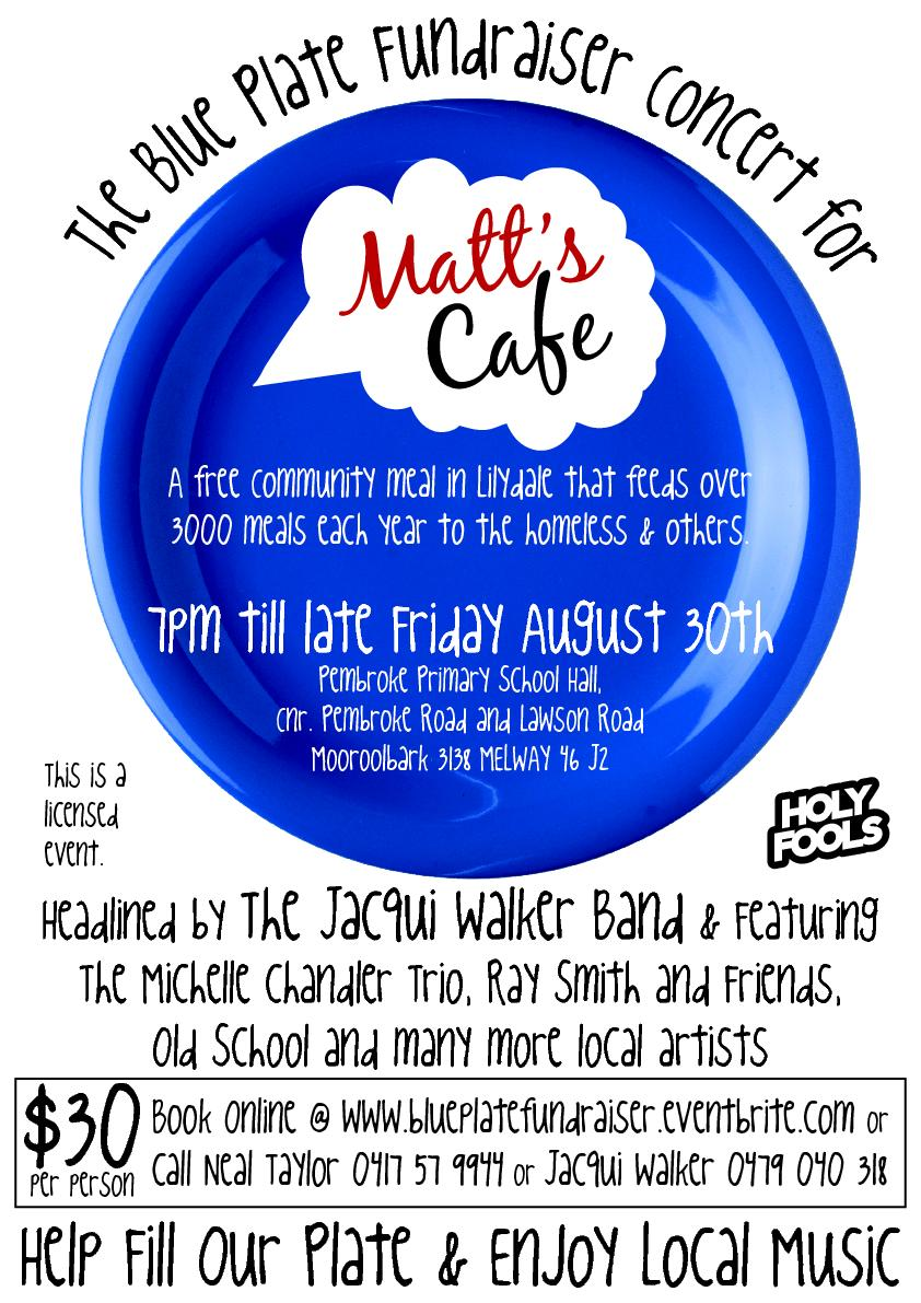The Blue Plate Fundraiser Concert for