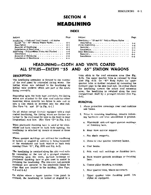 The headlining listing wire style, the listing wires directly