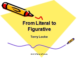 From Literal to Figurative PowerPoint PPT Presentation