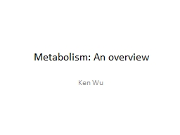 Metabolism: An overview