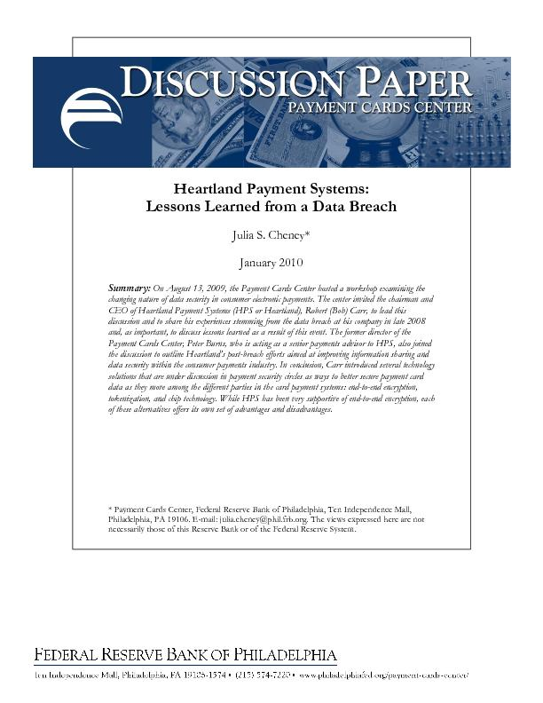 Heartland Payment Systems: