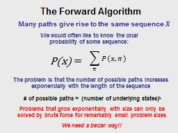 Many paths give rise to the same sequence