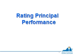 0 Rating Principal Performance PowerPoint PPT Presentation