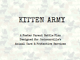 KITTEN ARMY PowerPoint PPT Presentation