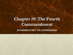 Chapter 20: The Fourth PowerPoint PPT Presentation