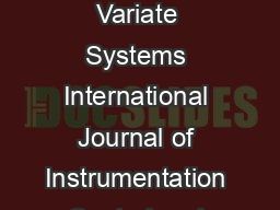 Free Interactor Matrix Method For Control Performance Assessment of Multi Variate Systems International Journal of Instrumentation Control and Automation IJICA ISSN   Vol  Iss    FREE INTERACTOR MATR