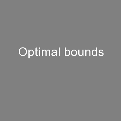 Optimal bounds