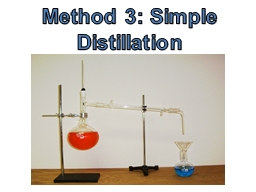Method 3: Simple Distillation PowerPoint PPT Presentation