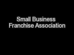 Small Business Franchise Association
