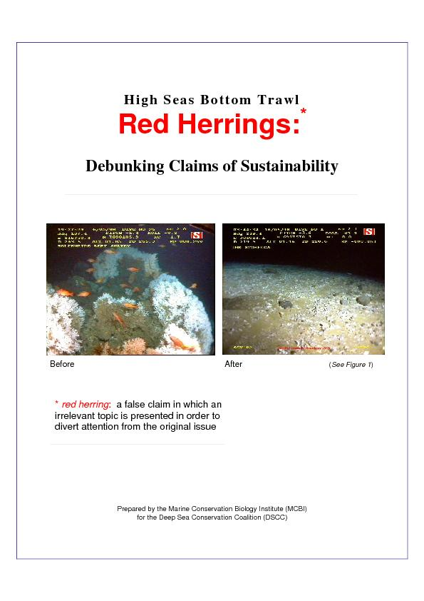 Red Herrings   2 Contents Introduction    3 Bottom trawling impacts on