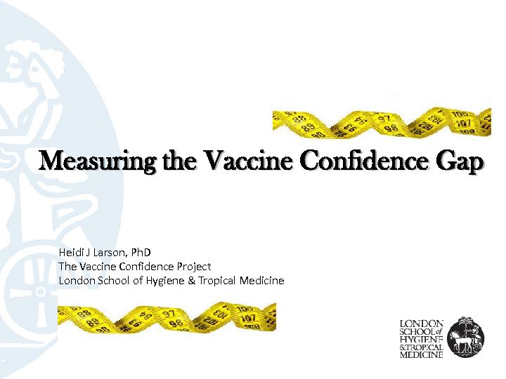 Measuring the Vaccine Confidence Gap