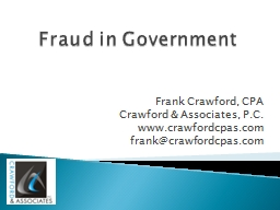 Fraud in Government PowerPoint PPT Presentation