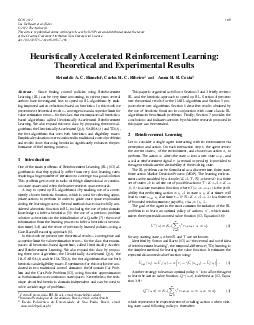 HeuristicallyAcceleratedReinforcementLearning:TheoreticalandExperiment