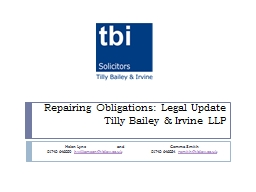 Repairing Obligations: Legal Update