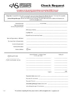 Check request must be submitted to the A PDF document - DocSlides