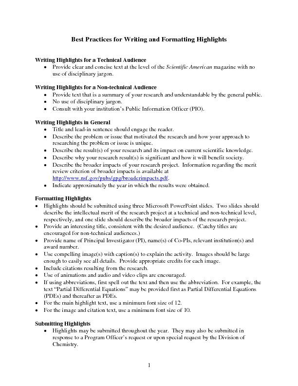 scientific and technical writing pdf