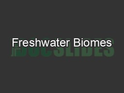 Freshwater Biomes PowerPoint PPT Presentation
