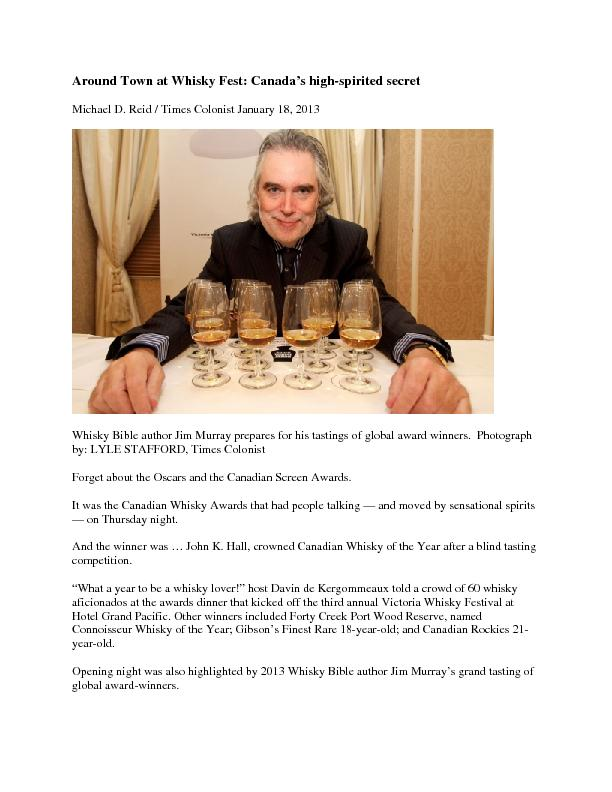 Michael D. Reid / Times Colonist January 18, 2013 Times Colonist  Forg PowerPoint PPT Presentation