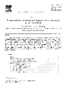 ELSEVIER Chemometrics and Intelligent Laboratory Systems    Chemometrics and intelligent laboratory systems Tutorial Process analysis monitoring and diagnosis using multivariate projection methods Th