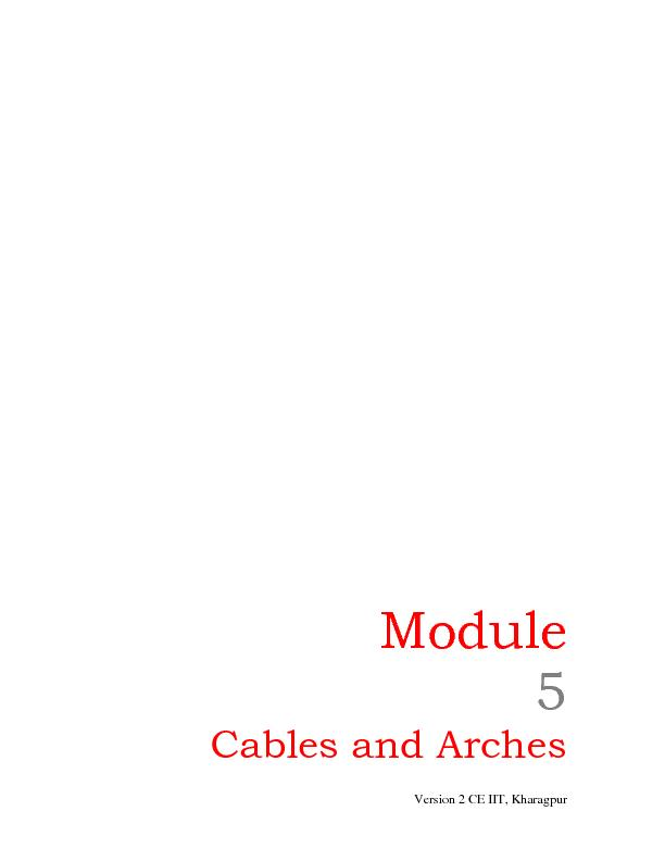 Cables and Arches PowerPoint PPT Presentation