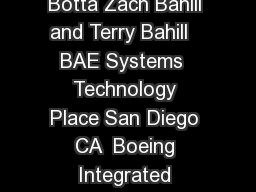 When Are Observable States Necessary Rick Botta Zach Bahill and Terry Bahill   BAE Systems  Technology Place San Diego CA  Boeing Integrated Defense Systems Kent WA Systems and Industrial Engineering PowerPoint PPT Presentation