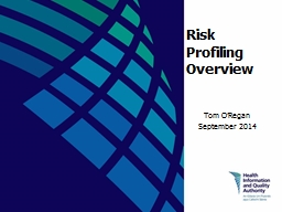 Risk Profiling Overview