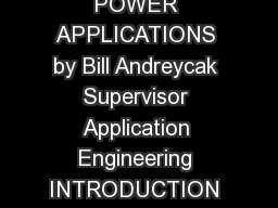 ELEGANTLY SIMPLE OFFLINE BIAS SUPPLY FOR VERY LOW POWER APPLICATIONS by Bill Andreycak Supervisor Application Engineering INTRODUCTION Generating a low power low voltage bias supply in an offline app PowerPoint PPT Presentation