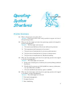 CHAPTER Operating System Structures Practice Exercises