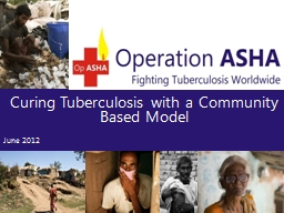 Curing Tuberculosis with a Community Based Model