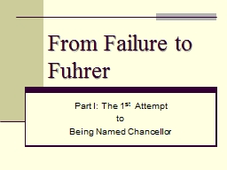 From Failure to Fuhrer