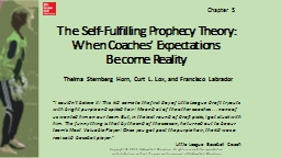 The Self-Fulfilling Prophecy Theory: