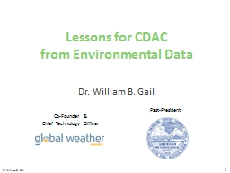 Lessons for CDAC