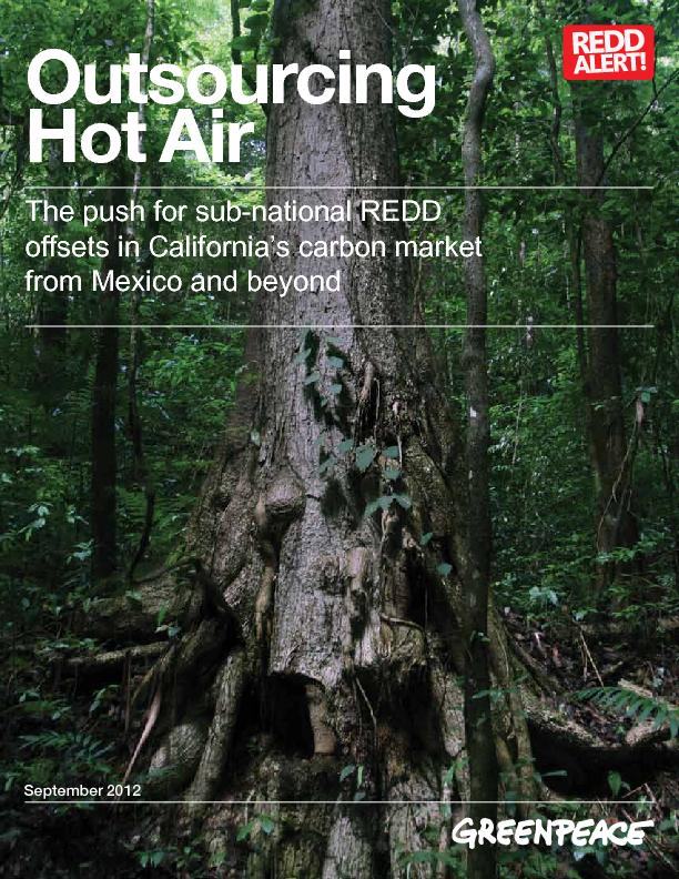 offsets in California's carbon market Outsourcing