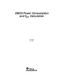 CMOS Power Consumption and C pd Calculation SCAAB June    IMPORTANT NOTICE Texas Instruments TI reserves the right to make changes to its products or to discontinue any semiconductor product or serv