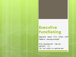 Executive Functioning PowerPoint PPT Presentation