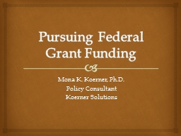Pursuing Federal Grant Funding