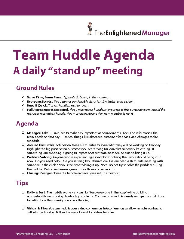 Team Huddle Agenda