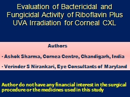 Evaluation of Bactericidal and Fungicidal Activity of Ribof