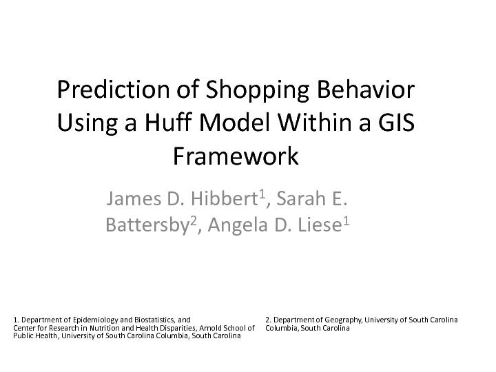 Prediction of Shopping Behavior