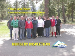 Nursery Inspection PowerPoint PPT Presentation