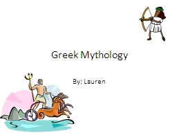 Greek Mythology PowerPoint PPT Presentation