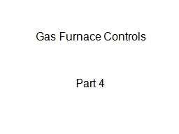 Gas Furnace Controls